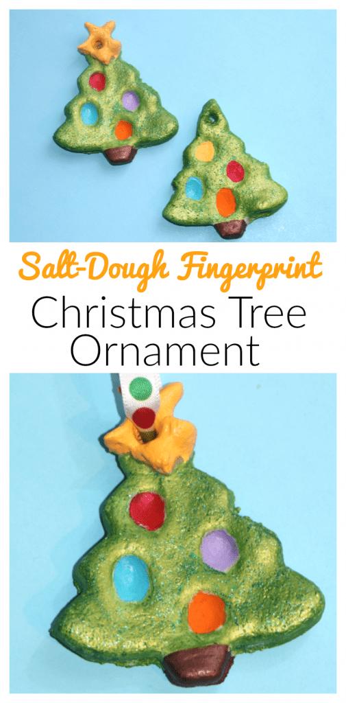 Salt Daugh Fingerprint Christmas Tree Ornament for Kids