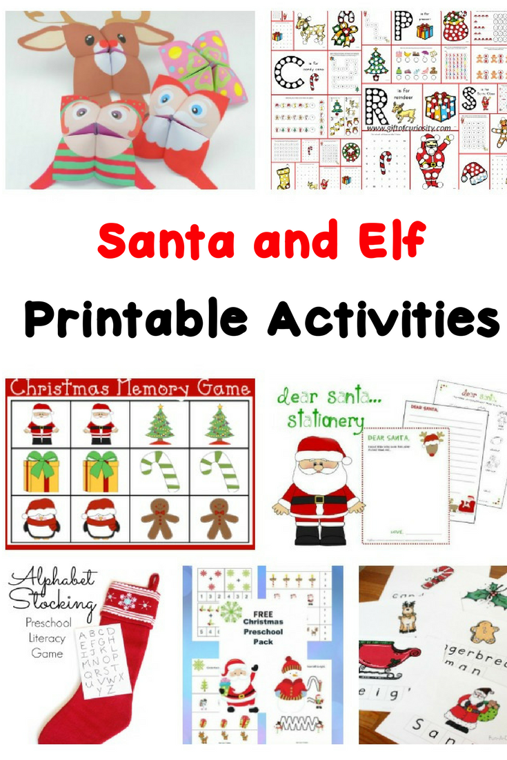 Santa and Elf Worksheets for Kids | Mrs. Karles Sight and Sound Reading