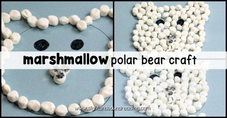 Simple Marshmallow Polar Bear Craft