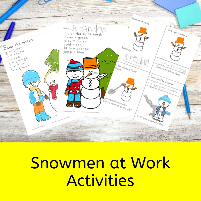 Snowmen at Work Activities