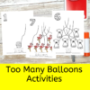 Too Many Balloons- Activities for Catherine Mathias book