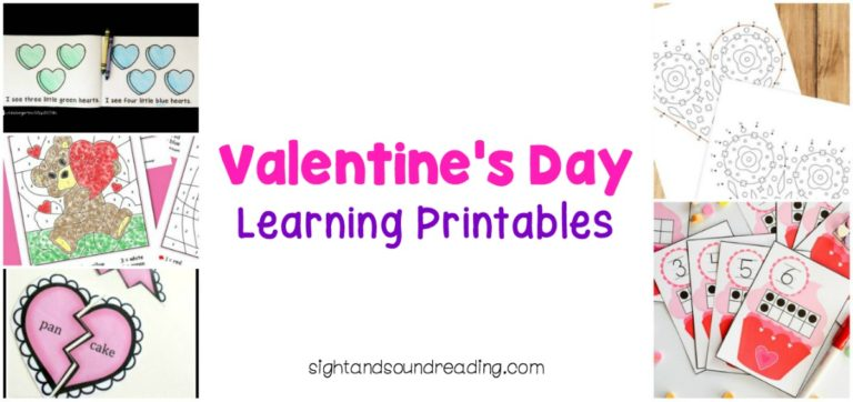 Valentine's Day Learning Printables