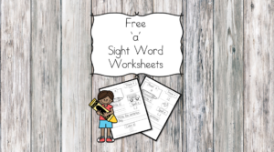 a Sight Word Worksheets -for preschool, kindergarten, or first grade - Build sight word fluency with these interactive sight word worksheets