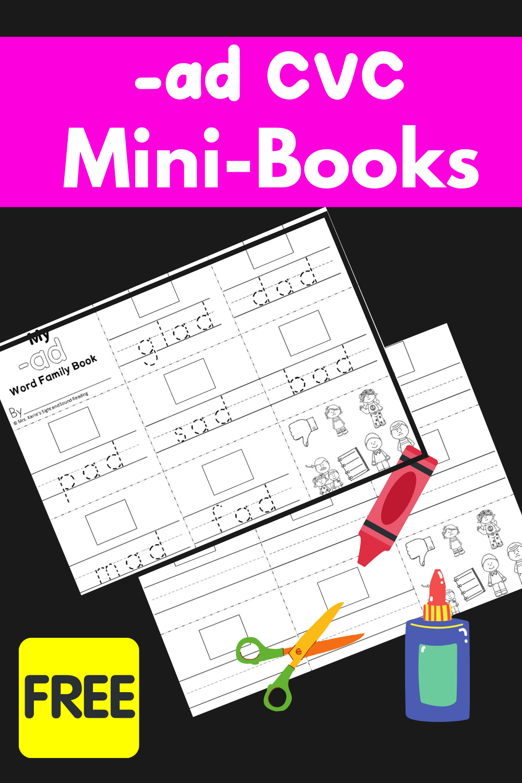 Ad CVC Word family Mini Book