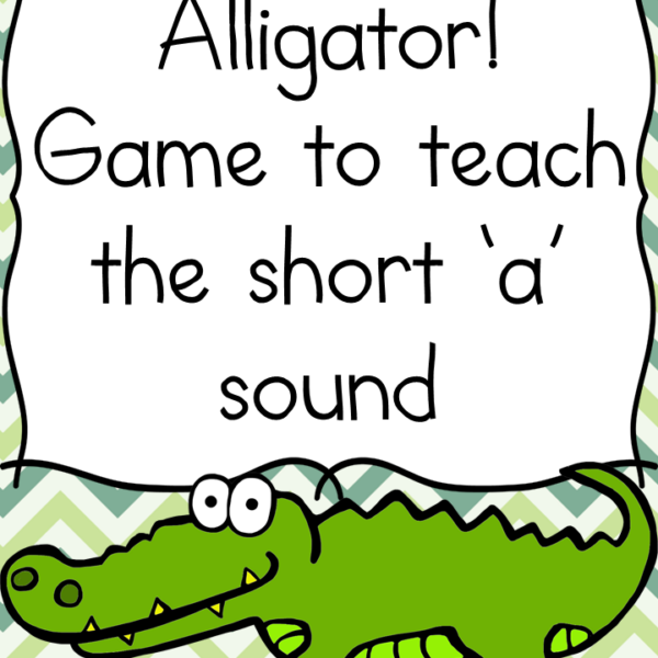 Alligator game to teach the short A sound for preschool or Kindergarten