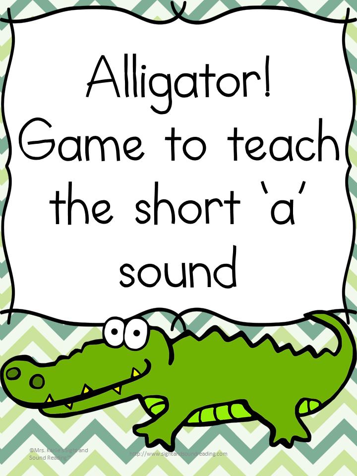 Alligator game to teach the short A sound for preschool or Kindergarten