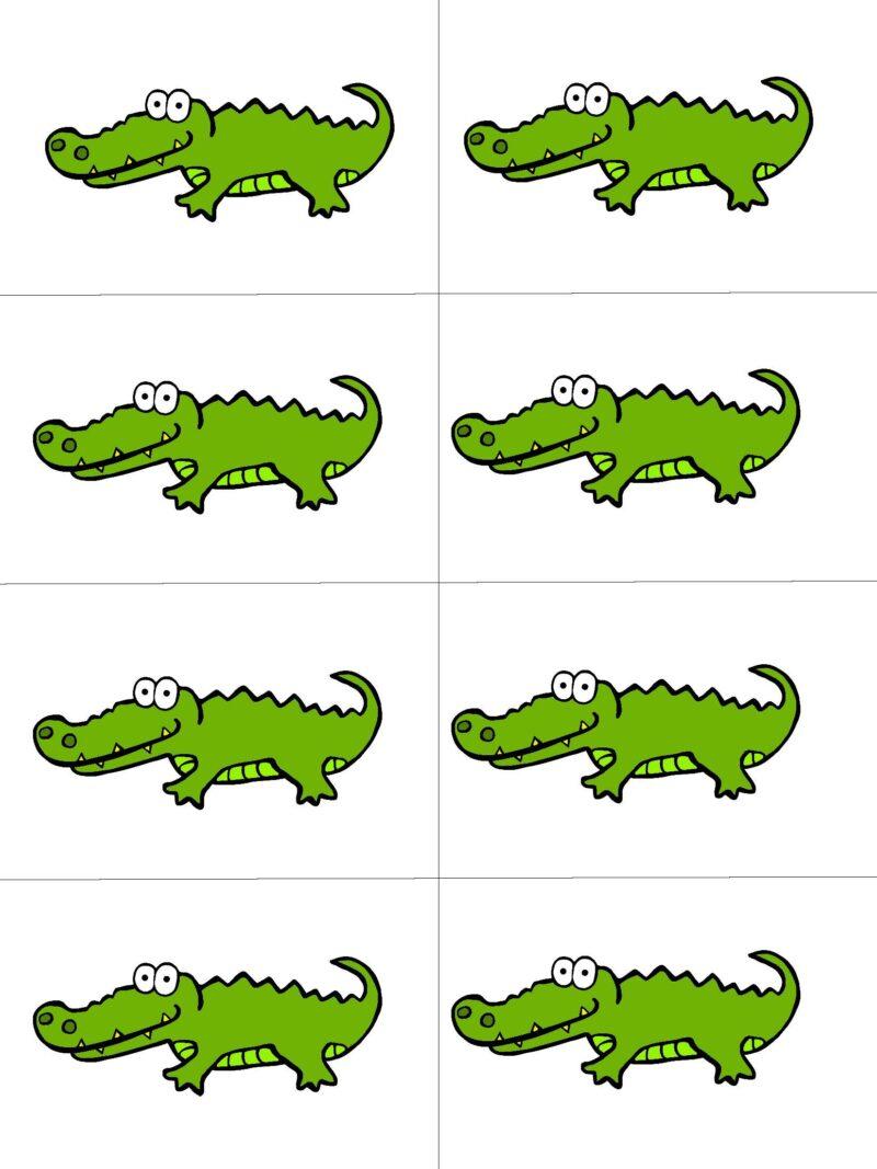 Beginning Sound Letter A Alligator Game