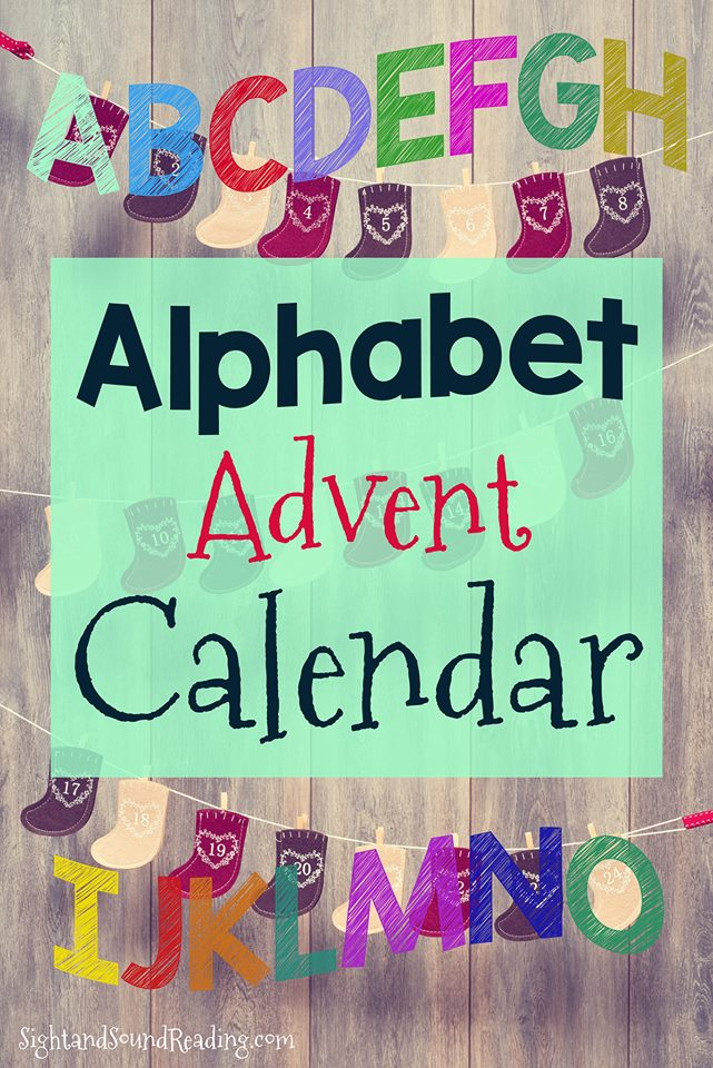 This clever printable alphabet advent calendar helps you count down the days to Jesus's birthday. Count using letters of the alphabet.