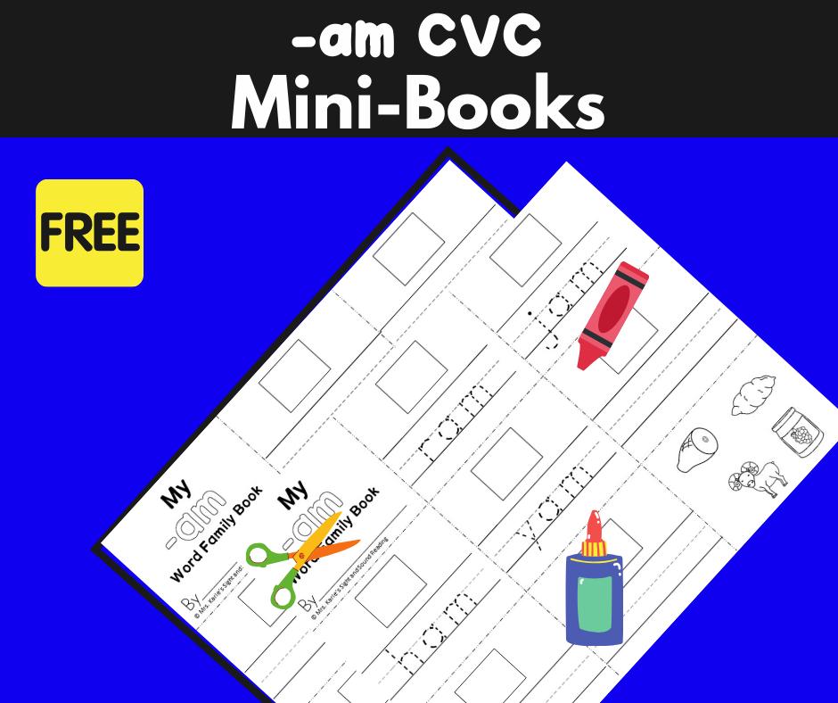 2 Free CVC AM family Worksheets to Teach Phonics