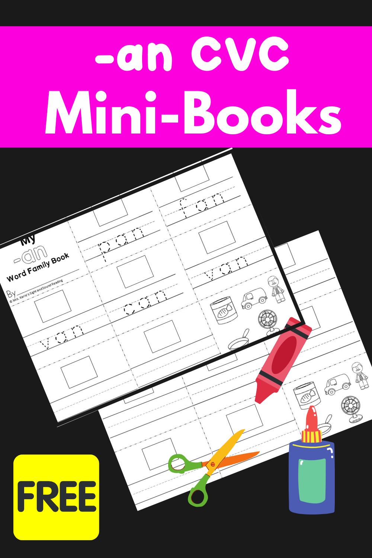 An CVC Word family Mini Book