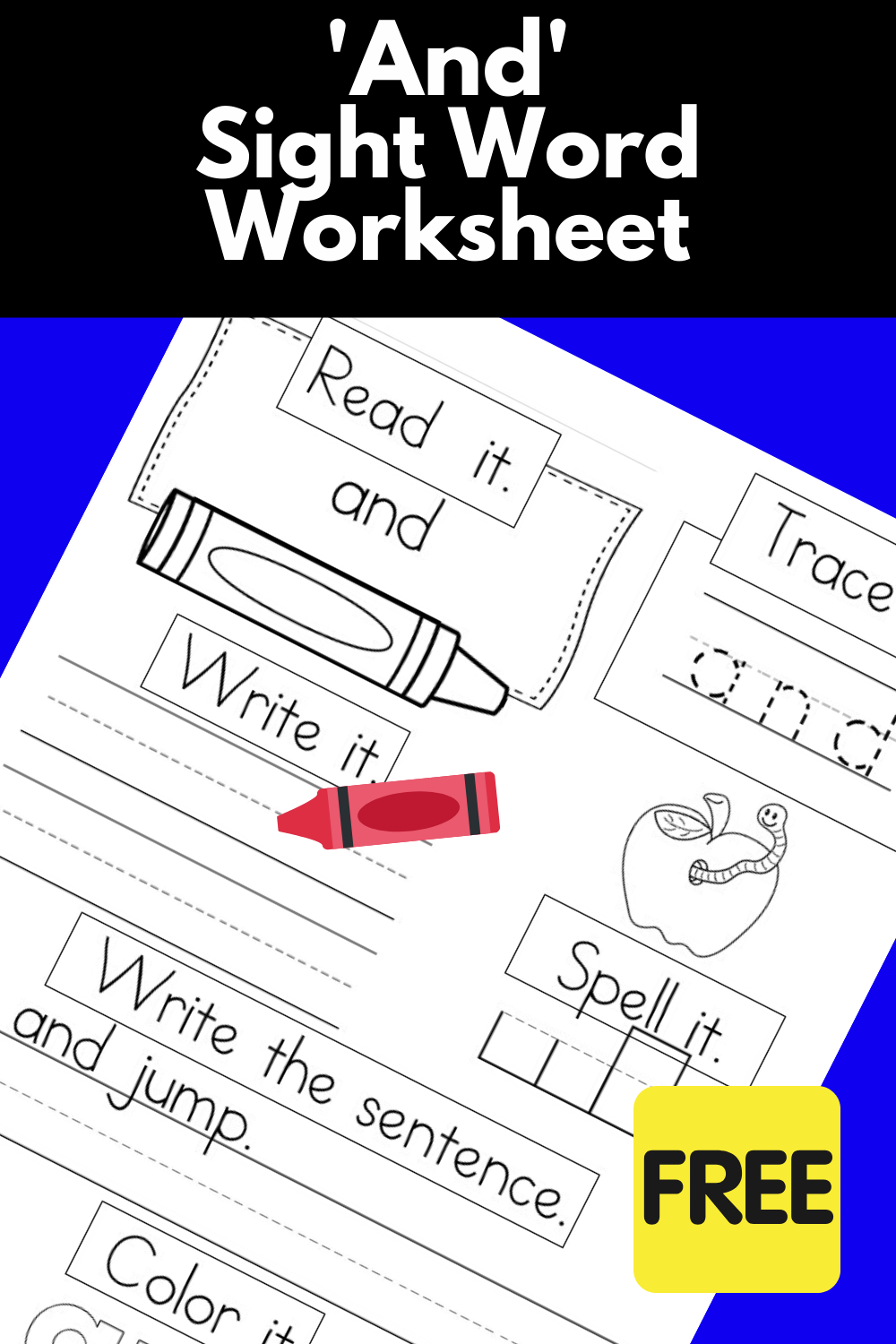And Sight Word Worksheet Title