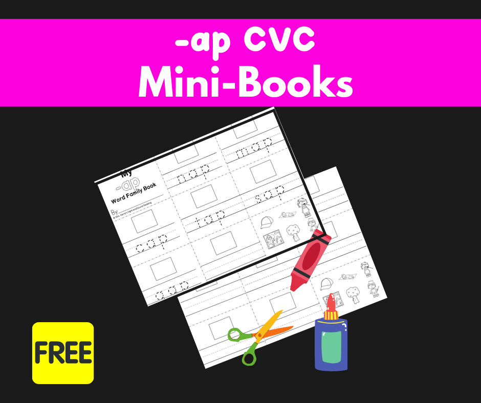 2 Free AP CVC Worksheets to Teach Word Families