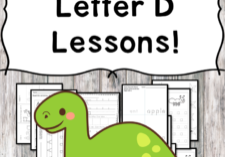 Letter D Lessons: Print and Go Letter of the Week fun!