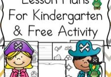 Pirate Lesson Plans -with free Make a Pirate hat and Pirate map activity. Pirate Lesson Plans for Kindergarten help to teach the p sound and the ar controlled vowel sound. Pirate book recommendations included.