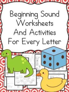 Beginning Sound Worksheet - 18 pages of activities for each letter of the alphabet.