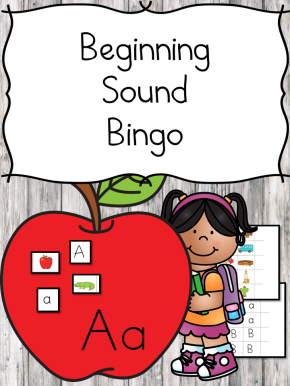 Beginning sound Bingo for the schoolyear