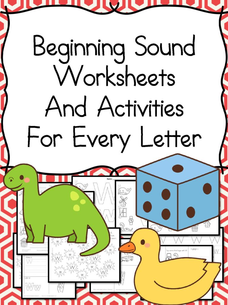 Beginning Sound Worksheets for Kindergarten