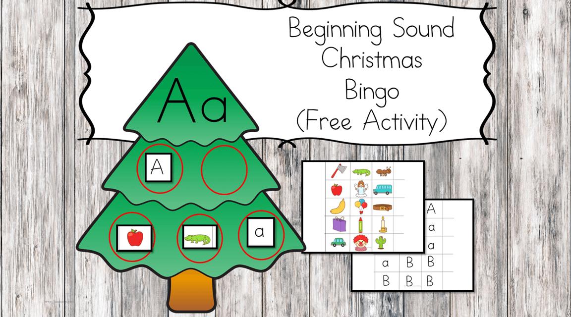 Christmas Beginning Sound Bingo