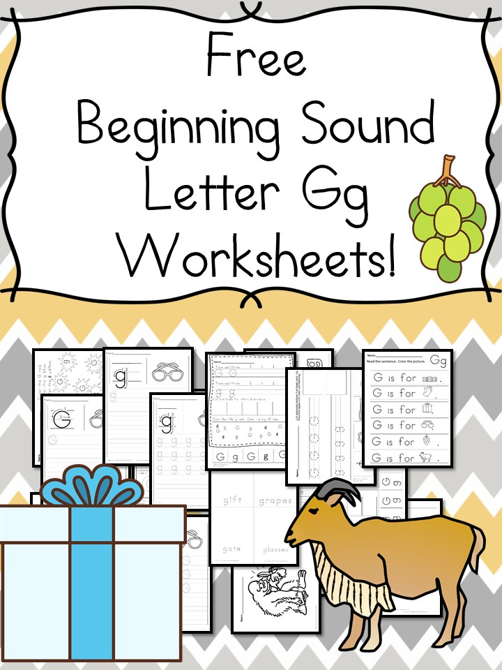 beginning sounds letter g worksheets free and fun. Black Bedroom Furniture Sets. Home Design Ideas