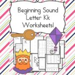Free Beginning Sounds Letter K worksheets to help you teach the letter K and the sound it makes to preschool or kindergarten students.