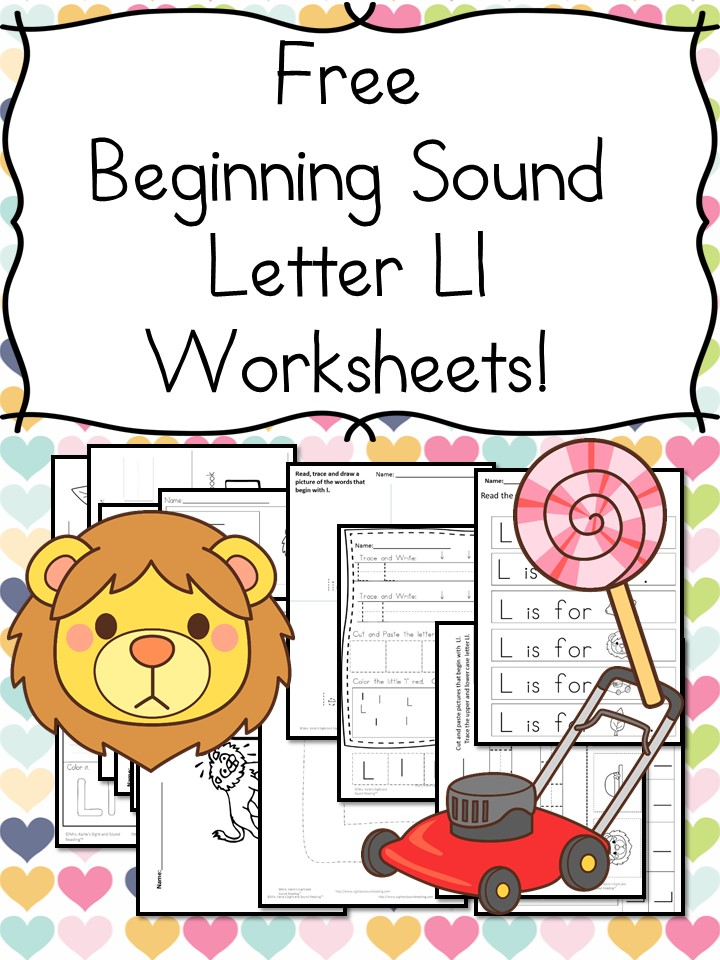 Beginning Sounds Letter L Worksheets Free And Fun. There Are Handwriting Pages Cut And Paste Activities More To Get Your Free Beginning Letter Sound Worksheets. Worksheet. Beginning Sounds Worksheets At Mspartners.co