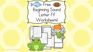 Free Beginning Sounds Letter F worksheets to help you teach the letter A and the sound it makes to preschool or kindergarten students.