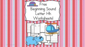 Free Beginning Sounds Letter H worksheets to help you teach the letter H and the sound it makes to preschool or kindergarten students.