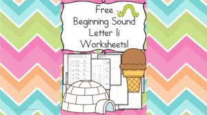 Free Beginning Sounds Letter I worksheets to help you teach the letter I and the sound it makes to preschool or kindergarten students.