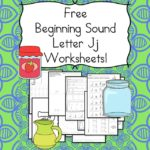 Free Beginning Sounds Letter J worksheets to help you teach the letter J and the sound it makes to preschool or kindergarten students.