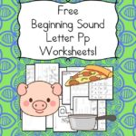 Free Beginning Sounds Letter P worksheets to help you teach the letter P and the sound it makes to preschool or kindergarten students.