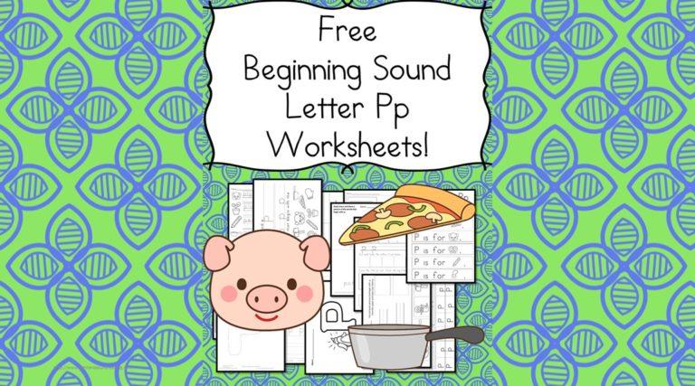 18 Free Letter P Beginning Sound Worksheets:  Easy download!