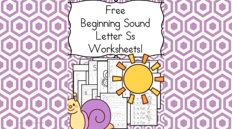 18 Free Beginning Sound Letter S Worksheets – Easy Download!
