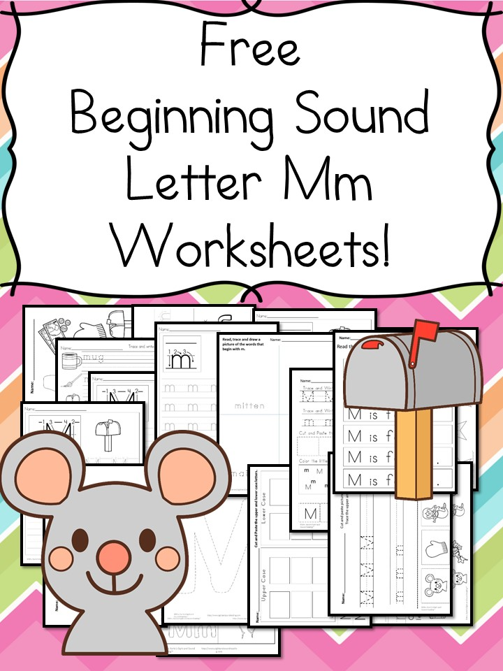 beginning sounds letter m worksheets free and fun. Black Bedroom Furniture Sets. Home Design Ideas