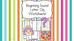 Free Beginning Sounds Letter Q worksheets to help you teach the letter Q and the sound it makes to preschool or kindergarten students.