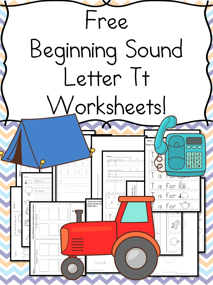 Printable Worksheets letter sound worksheets free 18 Free Beginning Sound Letter T Worksheets - Easy Download!