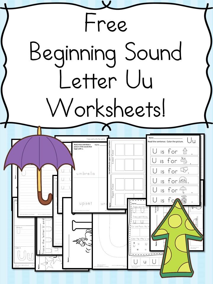 Beginning Sounds Letter U Worksheets Free and Fun – Beginning Sounds Worksheets Free