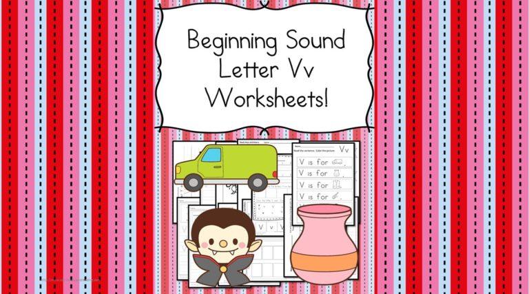 18 Free Beginning Sound V Worksheets – Easy Downloads!