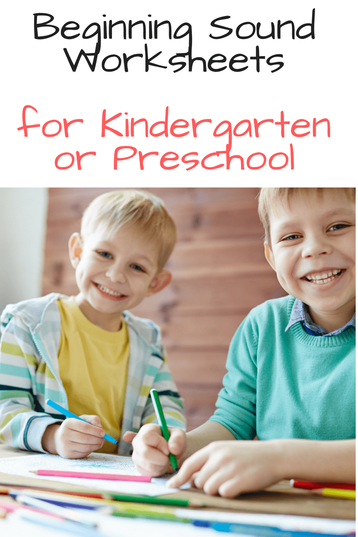 Beginning sound worksheets for preschool or kindergarten - fun and free worksheets to help teach phonics.