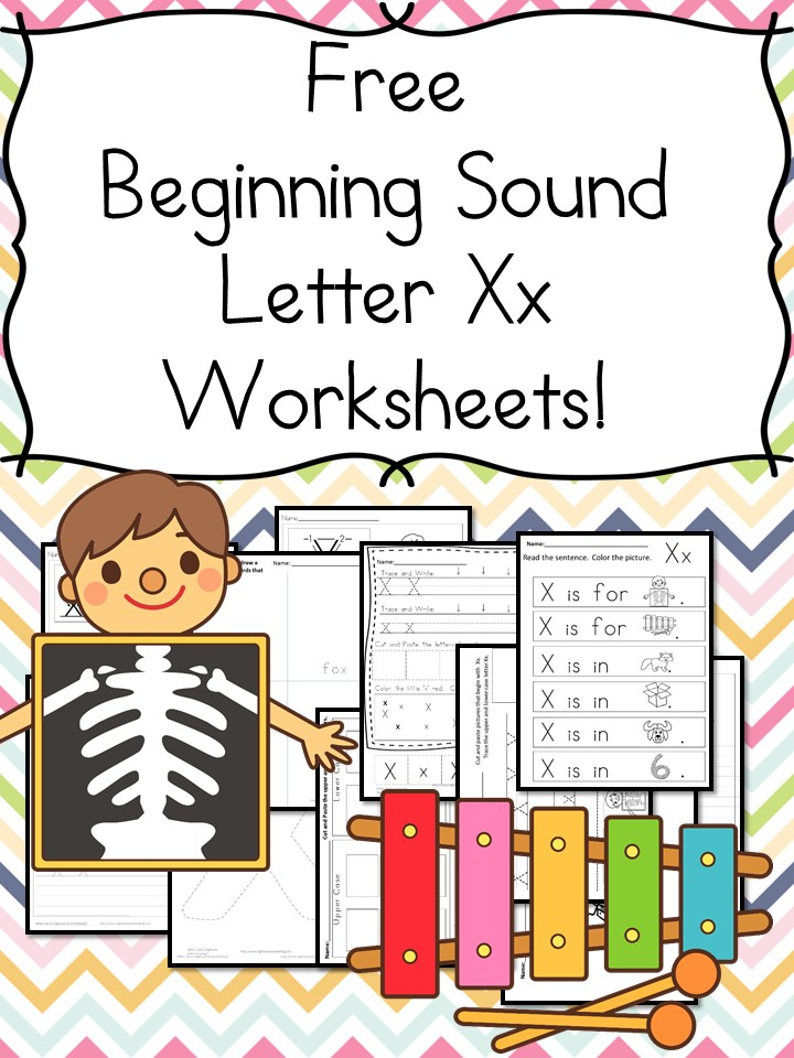 Beginning Sounds Letter X Worksheets Free and Fun – Beginning Sounds Worksheets