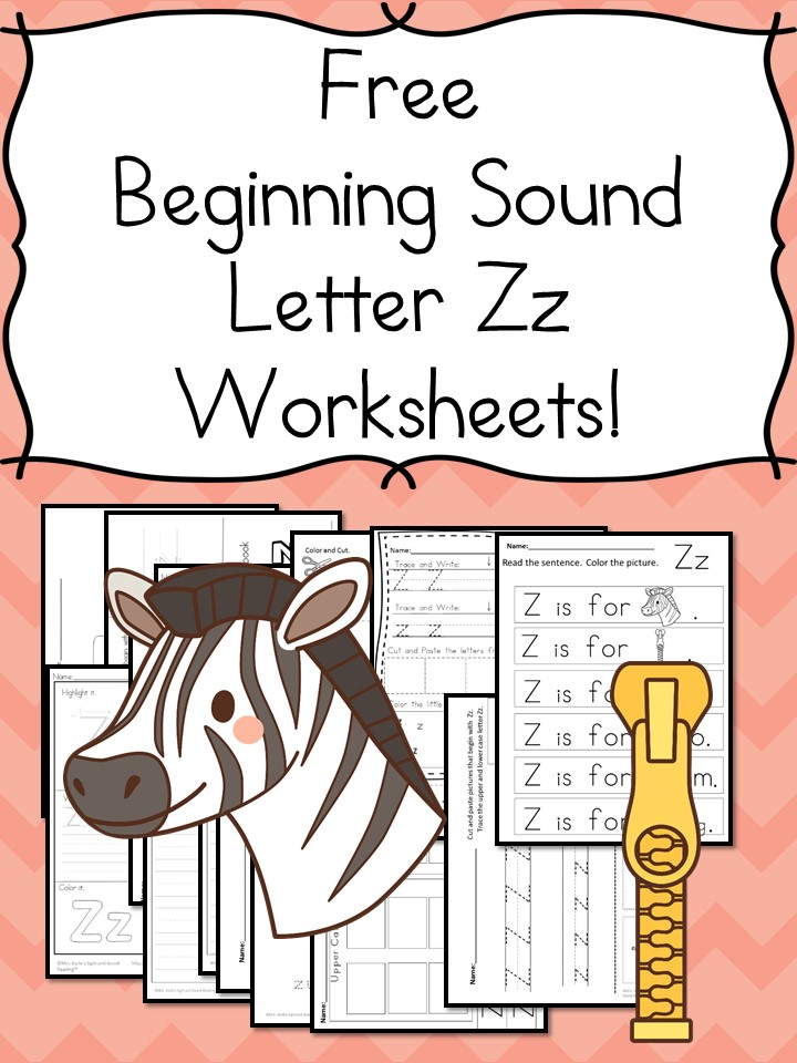 Beginning Sounds Letter Z Worksheets Free And Fun