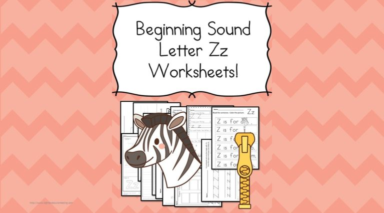 18 Free Beginning Sound Z Worksheets – Easy Download!