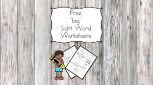 big Sight Word Worksheets -for preschool, kindergarten, or first grade - Build sight word fluency with these interactive sight word worksheets