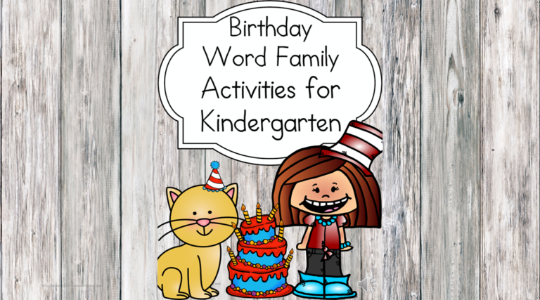 Word Family Worksheets for Dr. Seuss's Birthday
