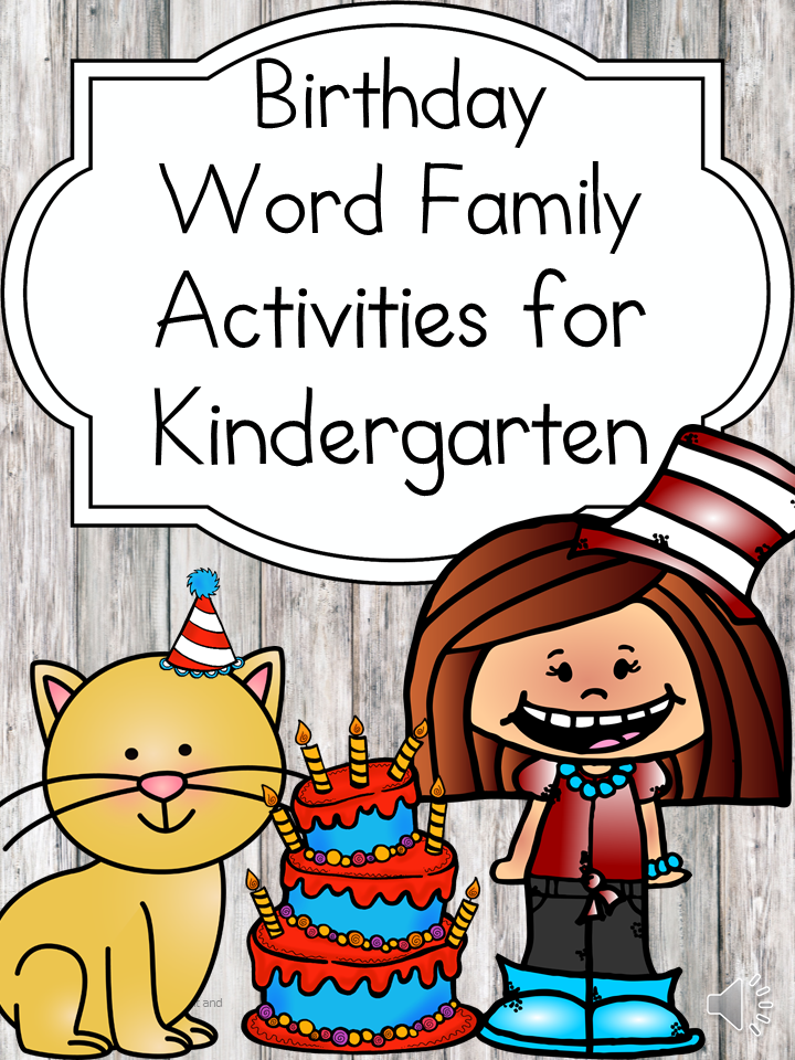 Have fun on Dr. Seuss's birthday with these fun word family activities