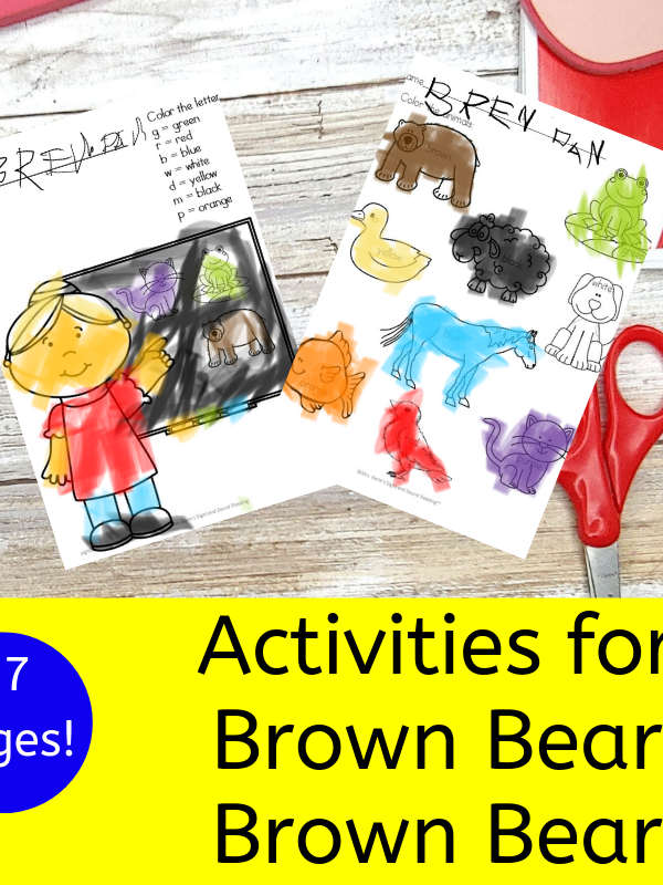 Activities for Brown Bear Brown Bear book for Kindergarten