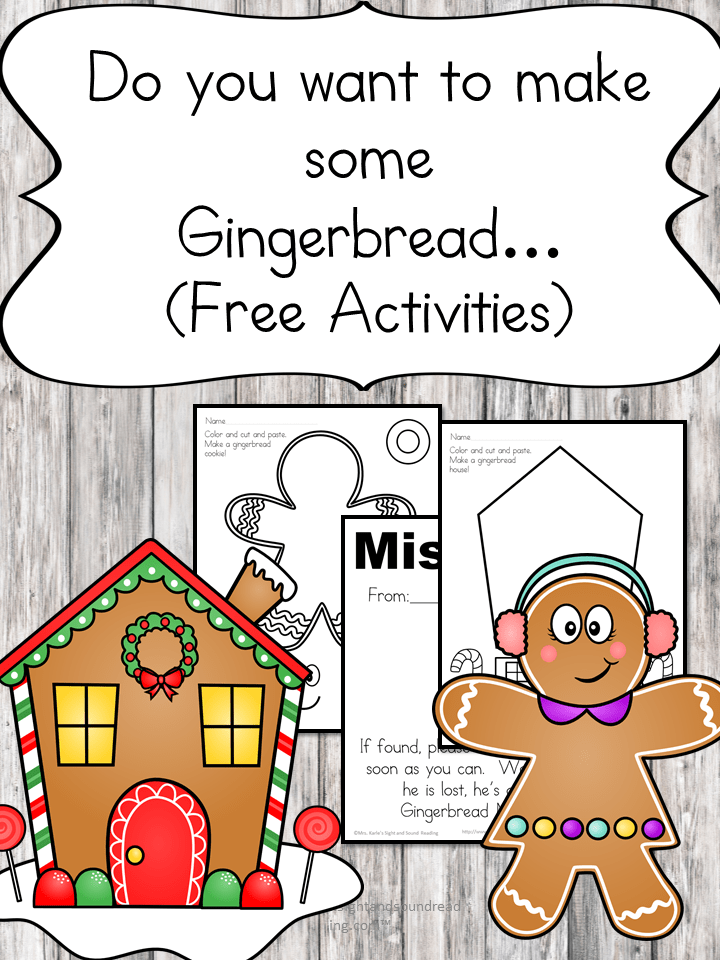 Gingerbread Man lesson plan and gingerbread man cutout template. Great for preschool, kindergarten or 1st grade.