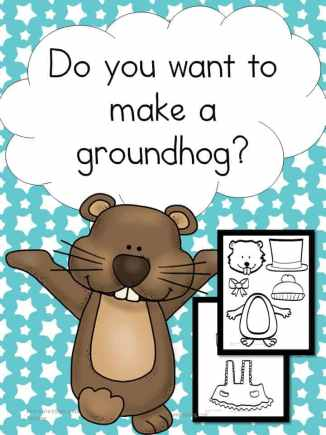 Make a Groundhog Activity: Fun for preschool through 2nd grade.