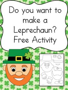 Do you want to make a leprechaun? Cute and fun activity for preschool and kindergarten -fun to practice cutting skills.