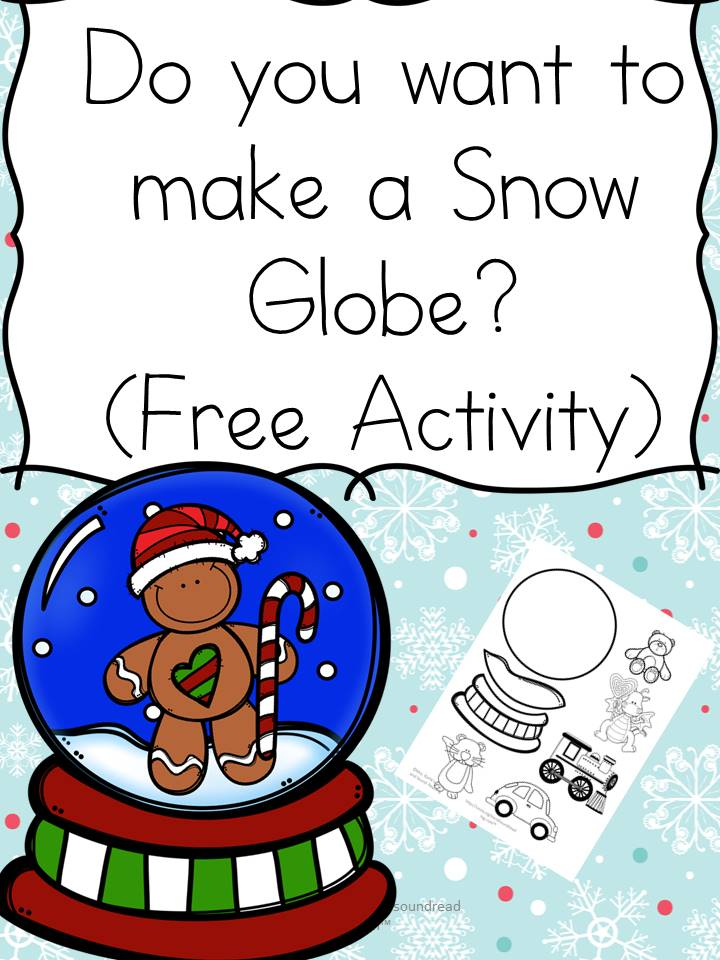 Do you want to build a snow globe? Fun activity to help practice coloring, ,cutting and pasting skills -great for preschool or Kindergarten!