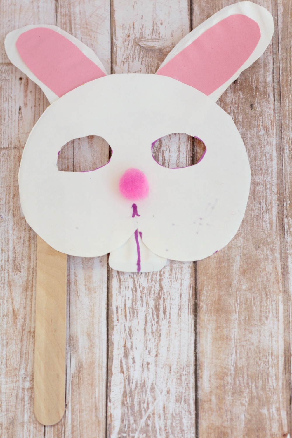Spring is around the corner celebrate it by making paper plate bunny mask! This & Bunny Craft for Preschool: Paper Plate Bunny Mask